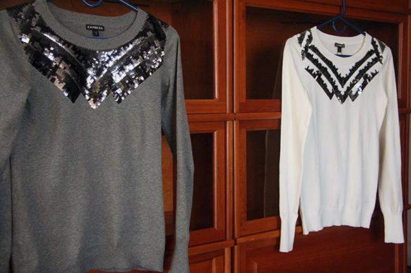Sweater Love 2014: Express Sequin Aztec Print Crew Neck Sweater ...